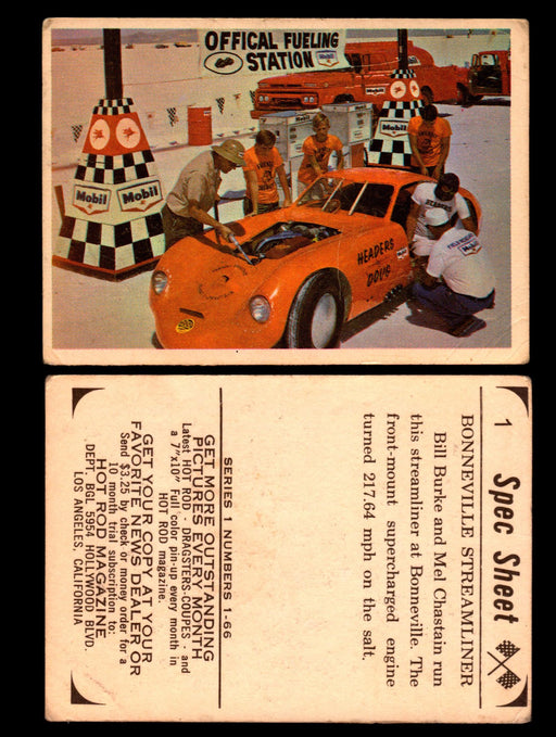 1965 Donruss Spec Sheet Vintage Hot Rods Trading Cards You Pick Singles #1-66 #1  - TvMovieCards.com