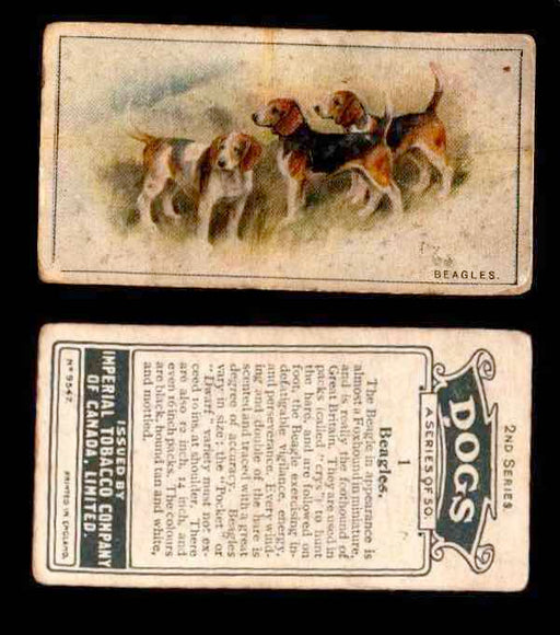 1925 Dogs 2nd Series Imperial Tobacco Vintage Trading Cards U Pick Singles #1-50 #1 Beagles  - TvMovieCards.com