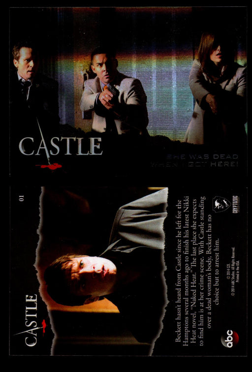 Castle Seasons 3 & 4 Foil Parallel Base Card You Pick Singles 1-72 #1  - TvMovieCards.com