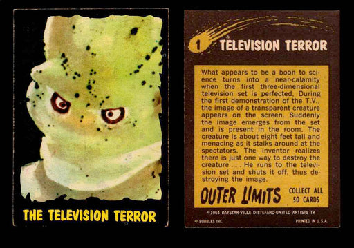 1964 Outer Limits Topps Vintage Trading Cards #1-50 You Pick Singles #1  - TvMovieCards.com