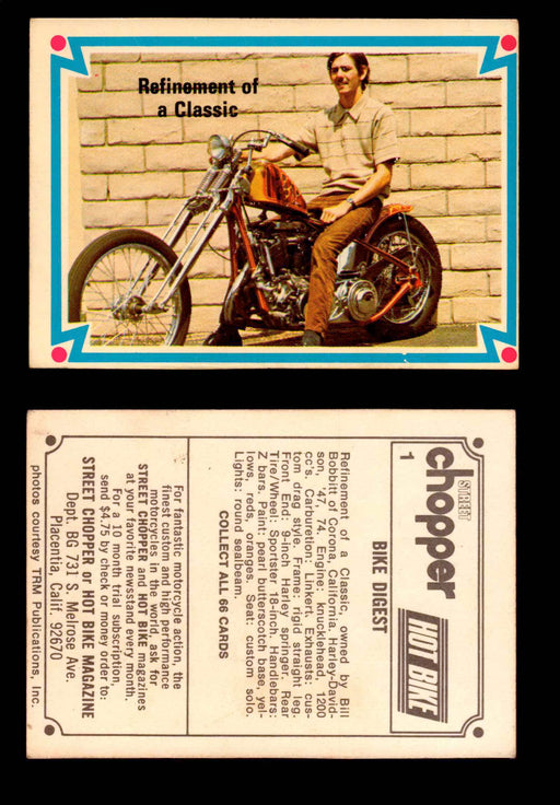 1972 Donruss Choppers & Hot Bikes Vintage Trading Card You Pick Singles #1-66 #1   Refinement of a Classic  - TvMovieCards.com