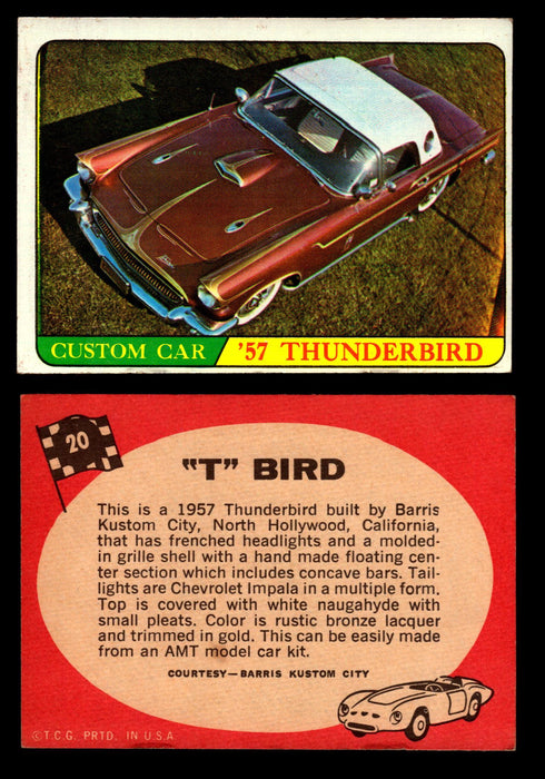 "Hot Rods Topps 1968 George Barris Vintage Trading Cards You Pick Singles #20 ""T"" Bird  - TvMovieCards.com"
