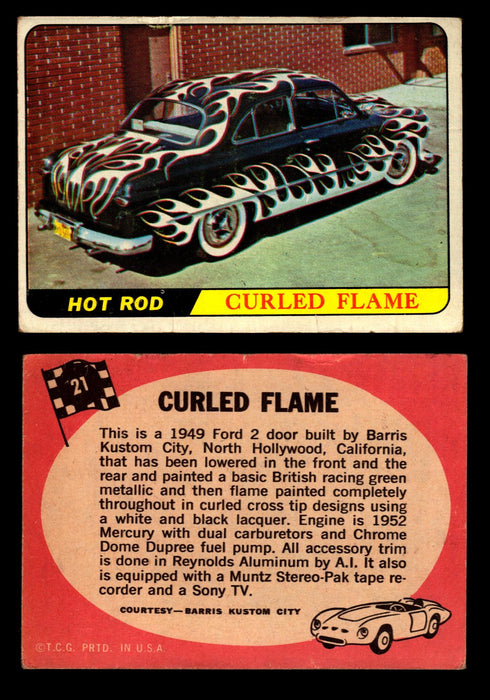 Hot Rods Topps 1968 George Barris Vintage Trading Cards You Pick Singles #21 Curled Flame  - TvMovieCards.com