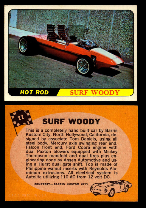 Hot Rods Topps 1968 George Barris Vintage Trading Cards You Pick Singles #22 Surf Woody  - TvMovieCards.com