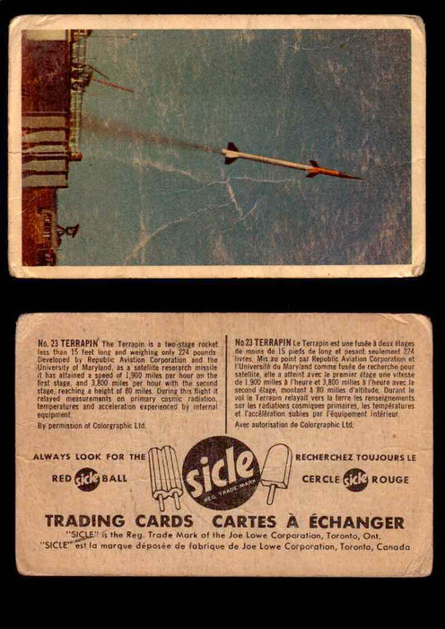 1959 Sicle Aircraft & Missile Canadian Vintage Trading Card U Pick Singles #1-25 #23 Terrapin  - TvMovieCards.com
