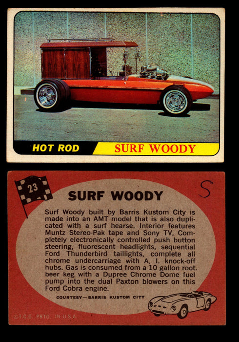 Hot Rods Topps 1968 George Barris Vintage Trading Cards You Pick Singles #23 Surf Woody  - TvMovieCards.com