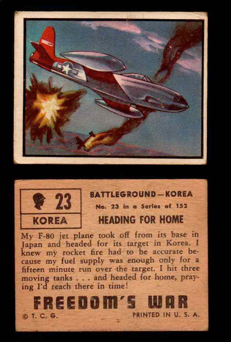 1950 Freedom's War Korea Topps Vintage Trading Cards You Pick Singles #1-100 #23  - TvMovieCards.com