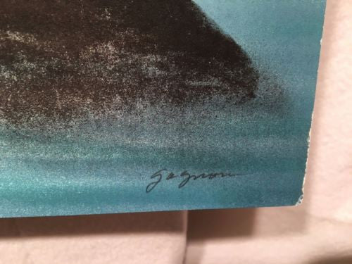 Vintage Gagnon Waves Crashing On Rocks Lithograph Signed Numbered 208/225 Print   - TvMovieCards.com