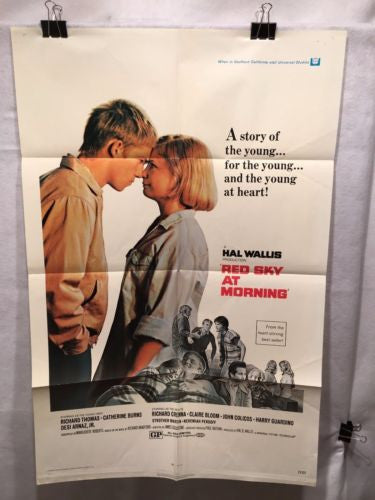 "Original 1971 ""Red Sky at Morning"" 1 Sheet Movie Poster 27""x 41"" Catherine Burns   - TvMovieCards.com"