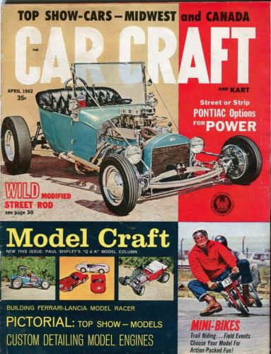 1962 April Car Craft Magazine Back Issue - Pontiac Options for Power   - TvMovieCards.com