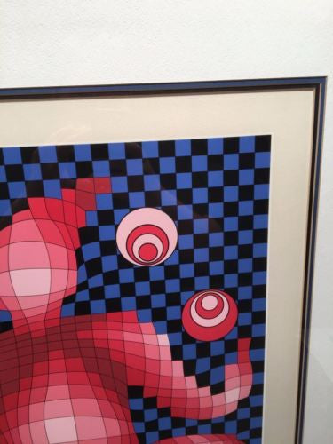 "Victor Vasarely (1908-1997) ""Jugglar"" Signed Numbered Serigraph Print 74/150   - TvMovieCards.com"
