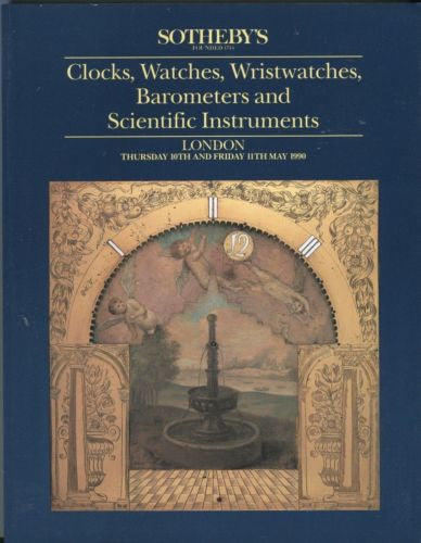 Sotheby's Auction Catalog May 10 & 11 1990 - Clocks, Watches, Barometers   - TvMovieCards.com
