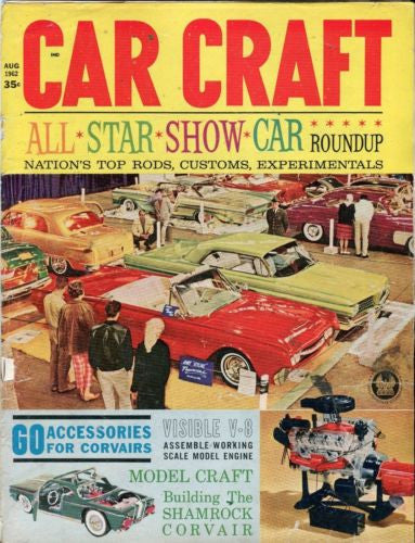 1962 August Car Craft Magazine Back Issue - All Star Show Car Roundup   - TvMovieCards.com
