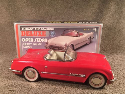 New Toy MF-317 China 1:18 Red 1953 CHEVROLET CORVETTE Convertible Tin Friction   - TvMovieCards.com