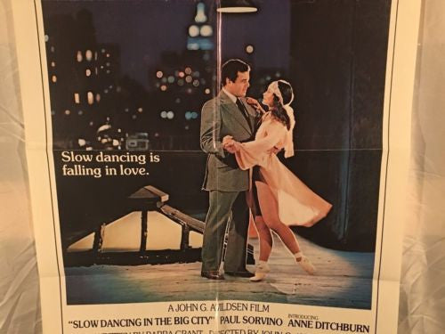 "Original 1978 ""Slow Dancing in the Big City"" 1 Sheet Movie Poster 27""x 41""   - TvMovieCards.com"