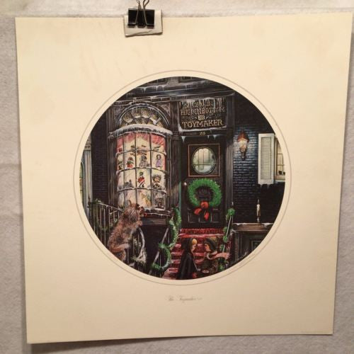 "James Milton Smith ""The Toymaker"" Signed Lithograph Print 616/750   - TvMovieCards.com"