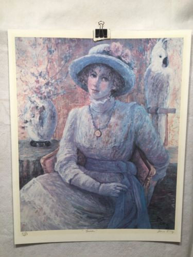"Vintage June Borg Lithograph Print ""Lissa"" Cockatoo Signed Numbered 543/950   - TvMovieCards.com"