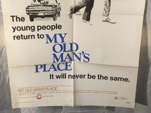 "Original 1972 ""My Old Mans Place"" 1 Sheet Movie Poster 27""x 41"" Vietnam War   - TvMovieCards.com"