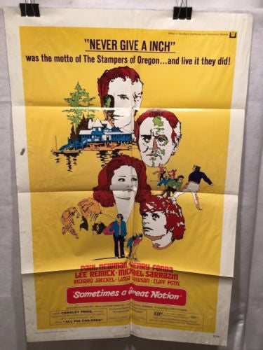 "Original 1971 ""Sometimes A Great Notion 1 Sheet Movie Poster 27x 41"" Paul Newman"