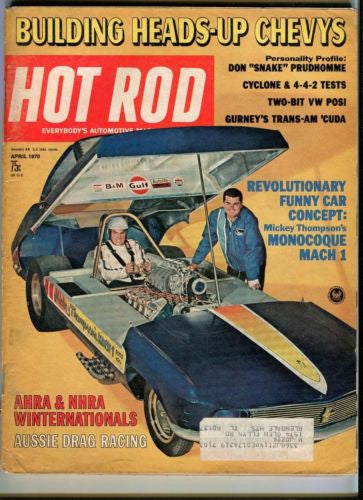 1970 April Hot Rod Magazine March Back Issue - AHRA NHRA Winternationals