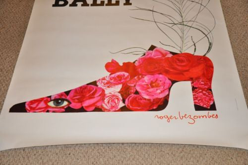 "Original 1980s Bally Shoe French Poster ""Plume"" 48 x 68 Roger Bezombes Very Nice   - TvMovieCards.com"