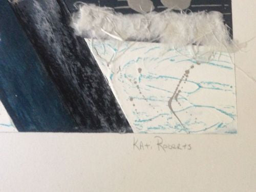 Kati Roberts Original Monotype Print Signed Abstract Modern   - TvMovieCards.com