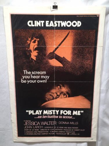 1971 Clint Eastwood - Play Misty For Me One Sheet Movie Poster 27x41