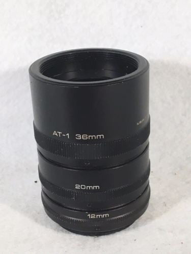 Vivitar Automatic Extension Tube AT-1 36mm 20mm 12mm Pentax Screw Mount M42   - TvMovieCards.com