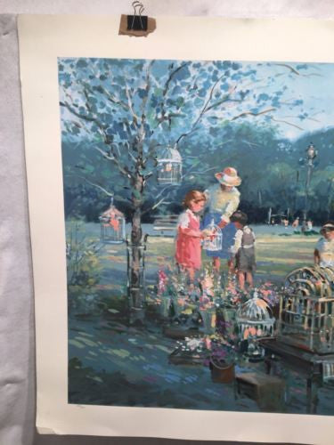 Vintage L. Gordon - Garden Of Melody Serigraph Print Signed Numbered 272/550   - TvMovieCards.com