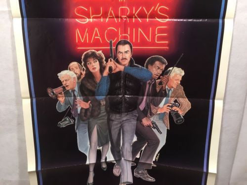 "Original 1981 ""Sharky's Machine"" 1 Sheet Movie Poster 27""x 41"" Burt Reynolds   - TvMovieCards.com"