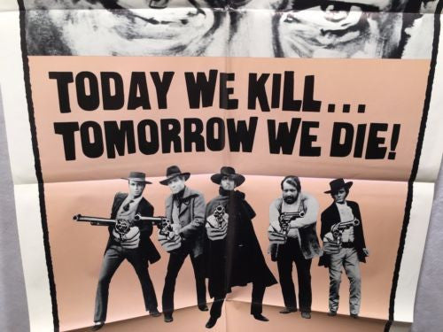 "Original 1971 ""Today We Kill Tomorrow We Die"" 1 Sheet Movie Poster 27x 41""   - TvMovieCards.com"