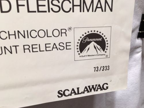 "Original 1973 ""Scalawag"" 1 Sheet Movie Poster 27x 41"" Kirk Douglas   - TvMovieCards.com"