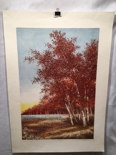 "Vintage Cal Pepper ""Surrounding Meadow"" Lithograph Signed Numbered 153/250 Print   - TvMovieCards.com"