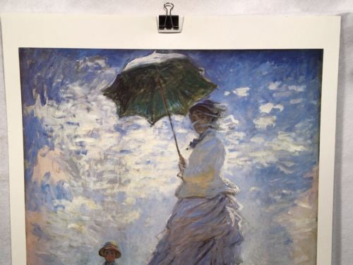 Woman with a Parasol Madame Monet and her Son Claude Monet Poster 29 x 22   - TvMovieCards.com