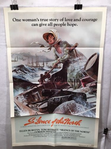"Original 1981 ""Silence of the North"" 1 Sheet Movie Poster 27""x 41"" Tom Skerritt   - TvMovieCards.com"