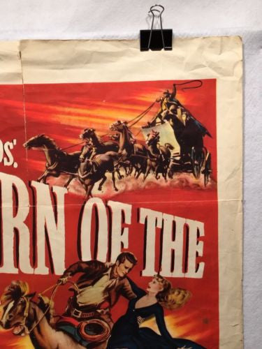 Original 1950 Return of the Frontiersman Movie Poster 27 x 41 Great for Decor   - TvMovieCards.com