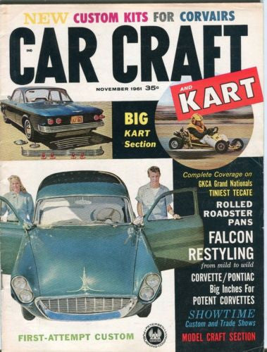 1961 November Car Craft Magazine Back Issue - GKCA Grand Nationals   - TvMovieCards.com