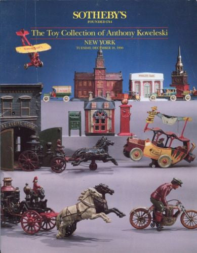 Sotheby's Auction Catalog December 19 1990 - Toy Collection Anthony Koveleski   - TvMovieCards.com