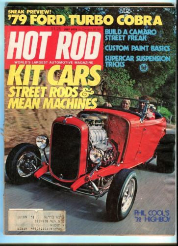 1978 July Hot Rod Magazine Back Issue - Kit Cars Street Rods & Mean Machines   - TvMovieCards.com
