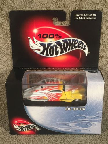 100% Hot Wheels Diecast 1/64 Limited Edition Big Mutha White Red Yellow Flames   - TvMovieCards.com