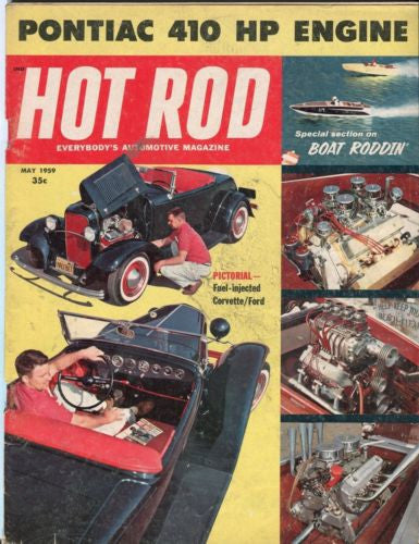 1959 May Hot Rod Magazine Back Issue - Fuel Injected Corvette / Ford   - TvMovieCards.com