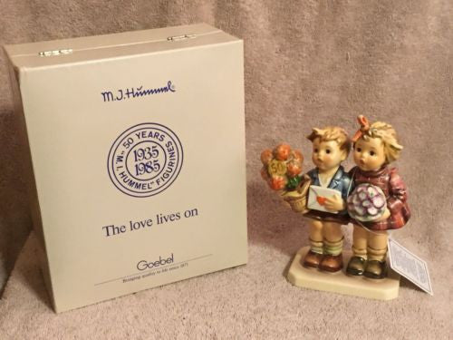 """The Love Lives On"" Goebel Hummel Jubilee Figurine #416 TMK6 50th Anniversary 6""   - TvMovieCards.com"