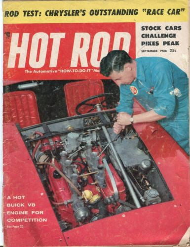 1956 September Hot Rod Magazine Back Issue - Hot Buick V8 Engine for Competition   - TvMovieCards.com