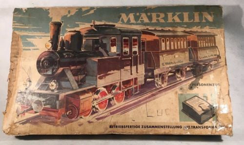 "MARKLIN HO 3029 ""Tank Engine"" 0-6-0 Locomotive Starter Kit Passenger Train"