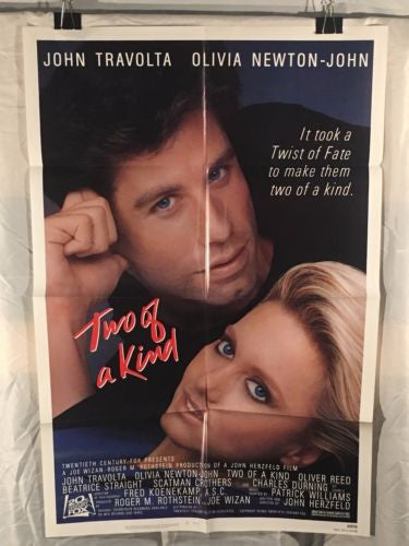 "Original 1983 ""Two of a Kind"" 1 Sheet Movie Poster 27""x 41"" Olivia Newton-John   - TvMovieCards.com"