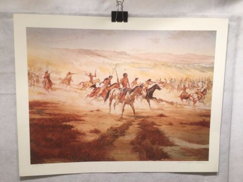 Vintage Western Indian Artwork William Nelson Signed Numbered 247/500   - TvMovieCards.com