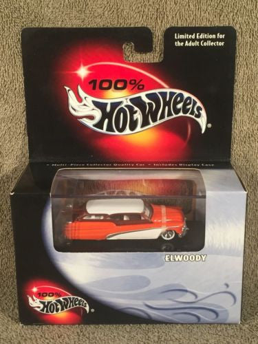 100% Hot Wheels Diecast 1/64 Limited Edition Elwoody Orange + White   - TvMovieCards.com