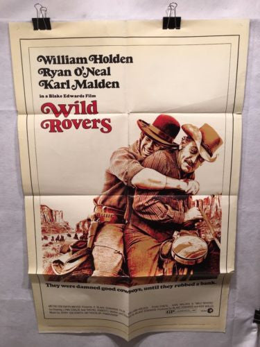 "Original 1971 ""Wild Rovers"" 1 Sheet Movie Poster 27x 41"" Ryan Oneal   - TvMovieCards.com"