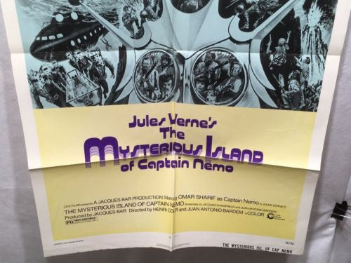 "Original The Mysterious Island of Captain Nemo 1 Sheet Movie Poster 27""x 41""   - TvMovieCards.com"