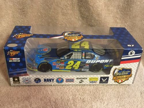2007 Winners Circle 1/24 Jeff Gordon #24 American Heroes Memorial Day Car